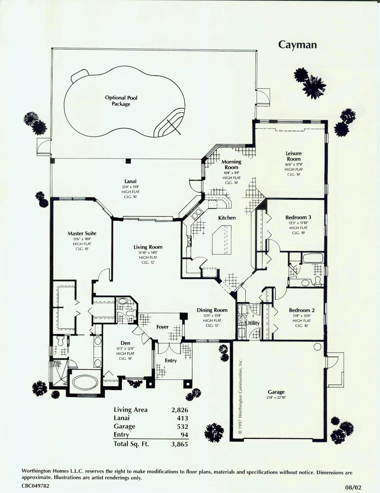 Southwest florida old florida style custom homes for Florida home builders floor plans